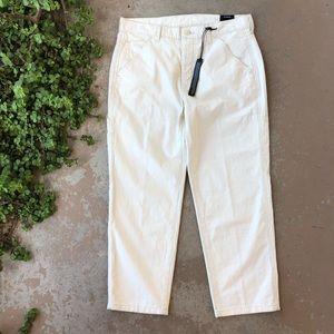 Vince Natural Cream Cargo Carpenter Pants